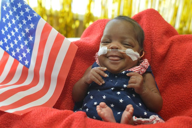 Naomi Abernathy was born prematurely — at 25 weeks — in October at Piedmont Athens Regional Medical Center. (Contributed)