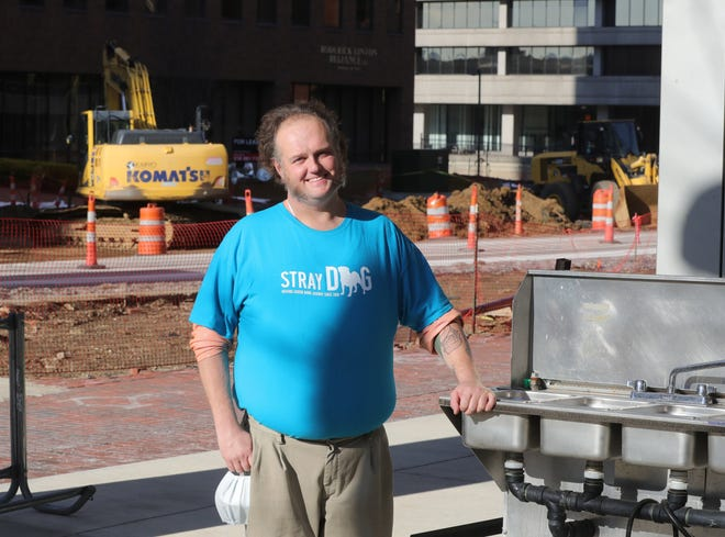 Stray Dog Cafe founder and owner Charly Murphy in 2019 in downtown Akron.