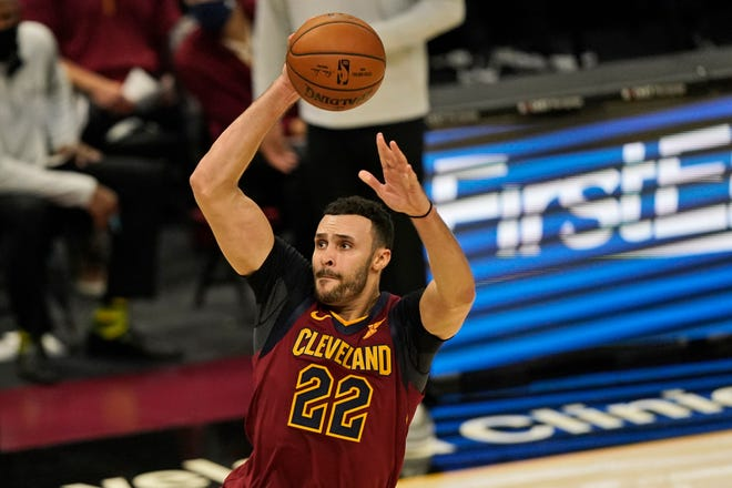 Cavaliers forward Larry Nance Jr. (22) is considered by his teammates to be the glue that holds the team together. [Tony Dejak/Associated Press]