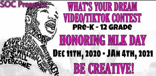 """Cher Best's Sisters Only Club is sponsoring a """"What's Your Dream Video/TikTok Contest"""" in honor of Martin Luther King Jr. Day."""