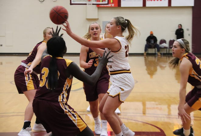 Emma Carpenter averaged 3.7 points and 1.7 assists per game as a freshman last season for Minnesota Crookston.