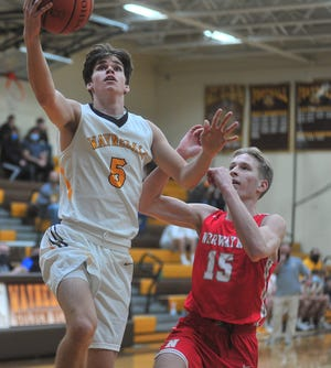 Waynedale's Zach Geiser (left) and Norwayne's Justin Rupp have been two of the area's top players during the first half of the season. Both are in the top 10 of multiple statistic categories.