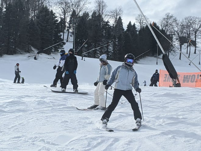 Lauren Galletta of Pittsburgh was happy to be on the slopes last week at Seven Springs Mountain Resort.