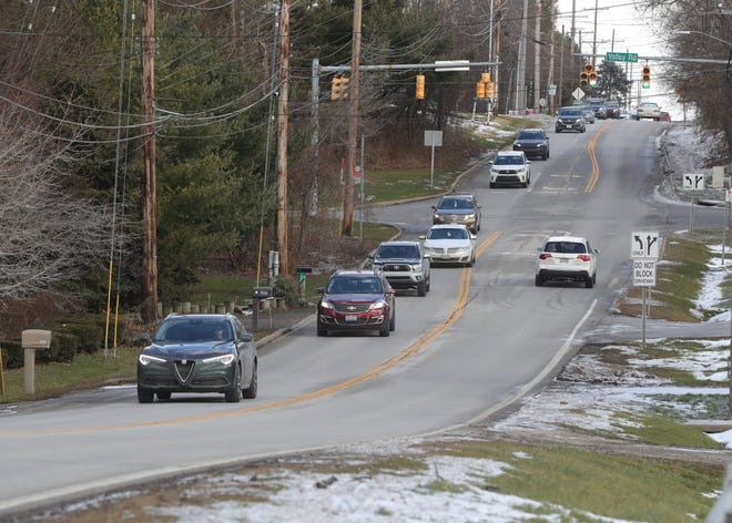 Portage Trail between Albertson Parkway and State Road is scheduled for a widening project in 2022. The design work and land acquisition for the project is expected to occur in 2021.  [Phil Masturzo/ Beacon Journal]