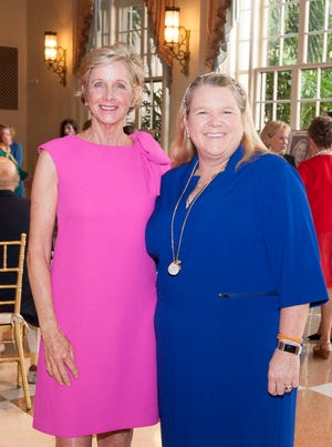 Mayor Gail Coniglio and Council Member Danielle Moore, now the mayor-elect, at the Palm Beach Atlantic University Women of Distinction Luncheon at The Breakers in February 2019.  MEGHAN MCCARTHY / PALM BEACH DAILY NEWS