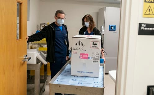 The first COVID-19 vaccines arrive packed in dry ice and need special freezers that can keep them extremely cold.