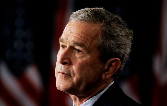 The question of a president and vice president from the same state briefly surfaced as an issue in 2000, when George W. Bush from Texas picked Dick Cheney, who had been living in Texas, to be his running mate. (AP Photo/Gerald Herbert)