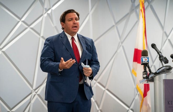 """Seniors will be our focus"" for the initial wave of COVID vaccinations, Florida Gov. Ron DeSantis reiterated Wednesday at the Kings Point retirement community clubhouse in Delray Beach."