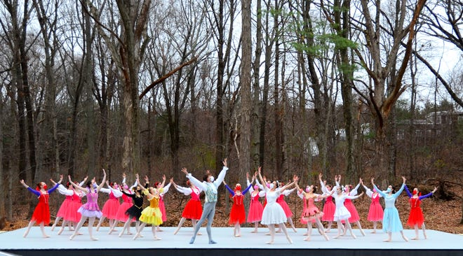"Dancers from the State Ballet of Rhode Island in the ""Coppelia"" finale during their Nov. 22 outdoor show on the ballet company's grounds in Lincoln."