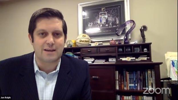 Jon Rolph provides regional updates Wednesday on COVID-19 in Kansas.