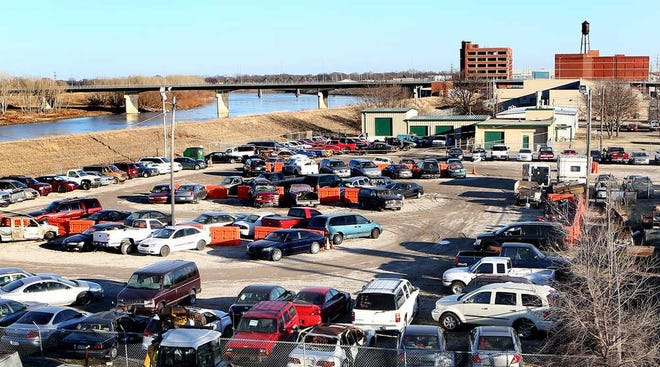 This Topeka Capital-Journal photo taken in 2016 shows the Topeka police impound lot.