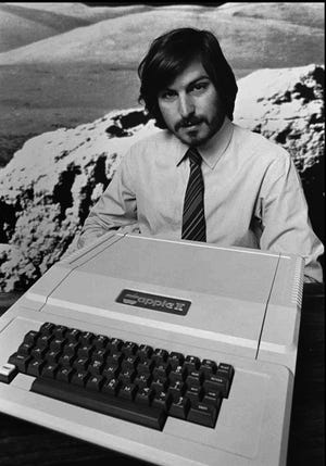 On Jan. 3, 1977, Apple Computer was incorporated in Cupertino, California, by Steve Jobs (pictured), Steve Wozniak and Mike Markkula Jr.