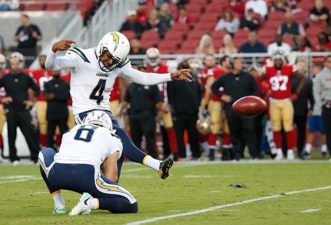 The Patriots see potential in kicker Roberto Aguayo.