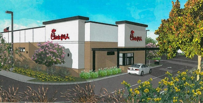 Construction for a new Chick-Fil-A is underway.