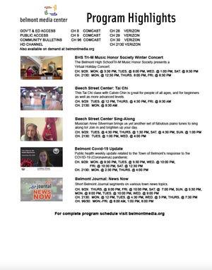 Belmont Media Center program highlights.
