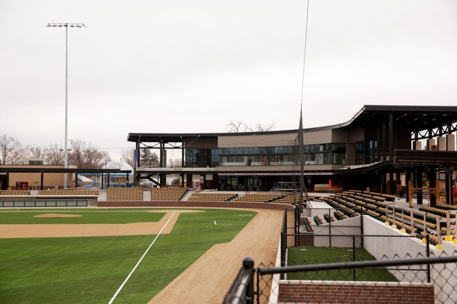 Construction continues on Loeb Stadium, Tuesday, Dec. 29, 2020 in Lafayette.