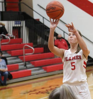 Mansfield Christian's Anna Sparks posted a huge double-double with 17 points and 12 rebounds in a win over Crestline.