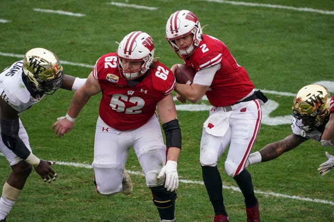Cormac Sampson may not start a game but could be Wisconsin's most versatile lineman, having played nearly all the positions including tight end.