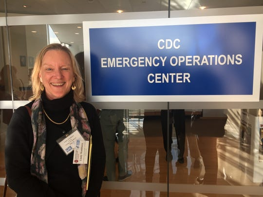 The Record and NorthJersey.com health care reporter Lindy Washburn during her December 2019 visit to the federal Centers for Disease Control in Atlanta.