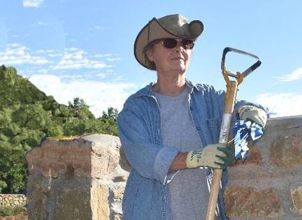 Las Crucen Sally Kading recently received the National Society of the Daughters of the American Revolution's  Historic Preservation Medal. She is pictured here at a local cemetery.