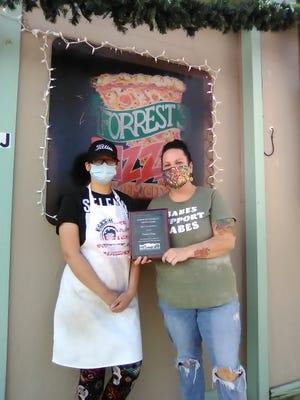 Kim Classen and Mariah Rodriquez of Forrest Pizza.