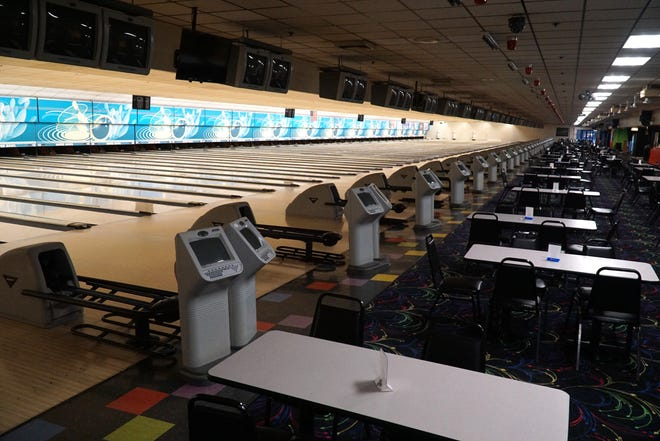 Super Bowl bowling alley in Canton has decided to keep its 60 lanes un-used for now.