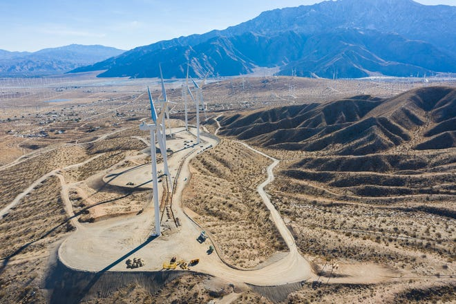 A man died after falling 100 feet from a tower in at unincorporated part of Riverside County near Desert Hot Springs on Wednesday, Dec. 30, 2020.