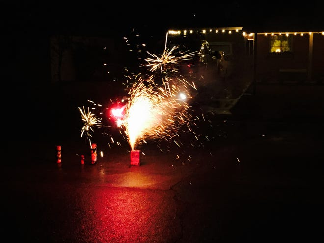 Ringing in the New Year in 2015 with fireworks.