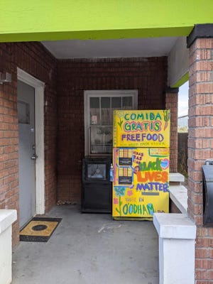 Grassroots group Mutual Aid Phoenix set up a community fridge at Xanadu coffee shop, located at  625 N. 7th St. near downtown Phoenix.