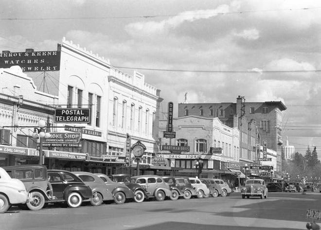 100 Years ago, headlines noted the opening of Pomeroy & Keene Jewelers on State and Liberty Streets. This image shows the building in 1941. The business may not be around today, but you can still see the large clock outside 380 State Street with their name engraved upon it.