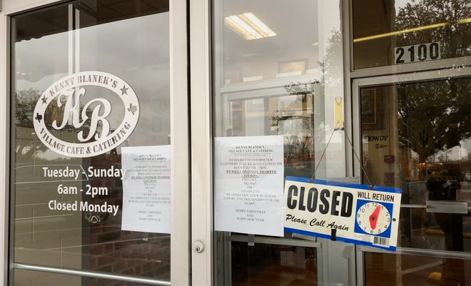 Kenny Blanek's Village Cafe, 2100 W. Beauregard, closes its doors in San Angelo, limited catering is still available.