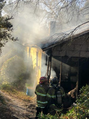 A photo of the structure fire which occurred on Tuesday, Dec. 29, 2020 on Old Bainbridge Road.