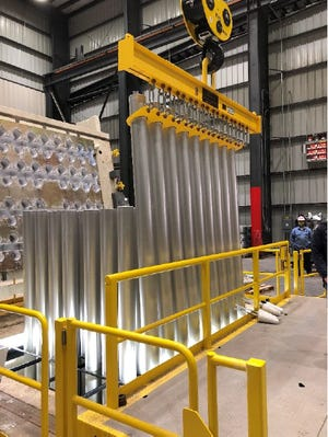 Matalco produces aluminum billet at its new Wisconsin Rapids manufacturing plant. Production started Nov. 19, 2020.