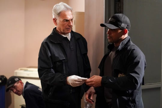 "Mark Harmon, left, and Wilmer Valderrama star in CBS' ""NCIS,"" which has had its scheduled Jan. 4 post-holiday production restart delayed for a week to surging COVID-19 positive tests and hospitalizations in Los Angeles, where the long-running hit is filmed."