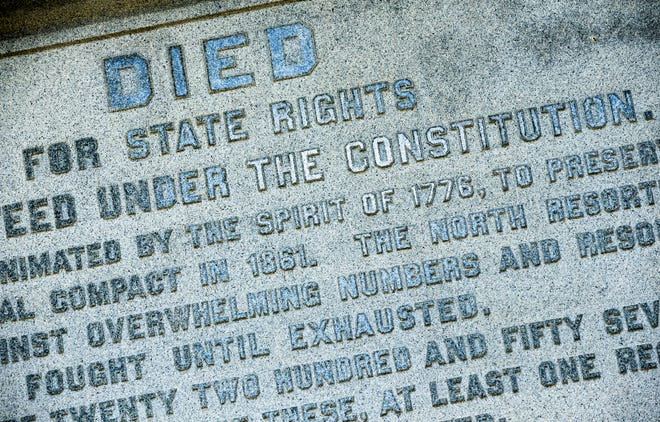 The Confederate Soldiers Monument is one of 20 Confederate monuments and symbols on the Capitol grounds.