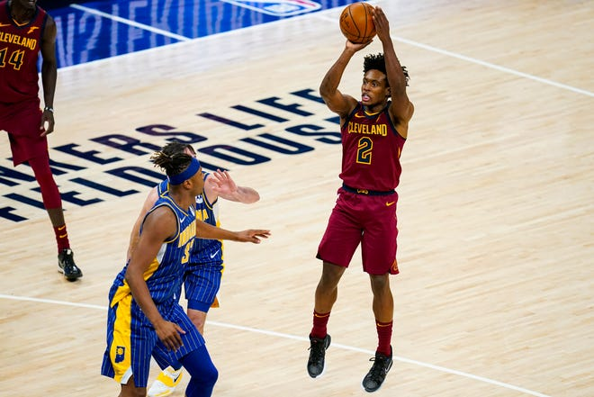 Cavaliers guard Collin Sexton (2) is shooting 44 percent on 3-pointers this season but he and the Cavs aren't shooting enough of them. [Michael Conroy/Associated Press]