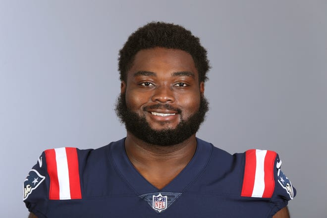 New England Patriots rookie Michael Onwenu has started all 15 games at right tackle this season.