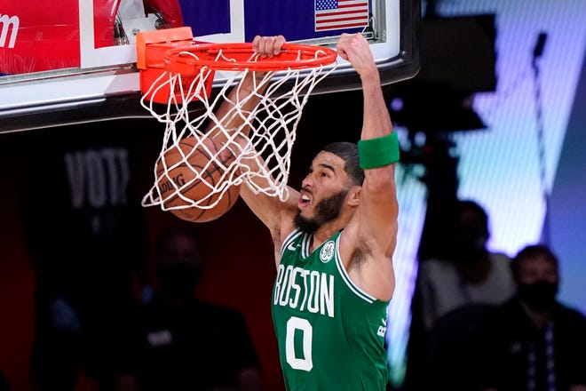 Jayson Tatum and the Boston Celtics had the deepest postseason run of any of New England's four professional sports teams, but their season ended with a Game 6 loss to the Miami Heat in the Eastern Conference Finals in September.