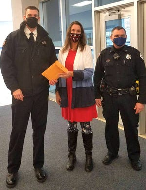 """The Penn Yan Police Department raised $565 through its """"No Shave November"""" event.  All of the money was donated to the Penn Yan Central School Music Boosters.  For the second year in a row members of the PYPD, Village Board, and their families didn't shave throughout November and paid a small """"fine"""" to participate.  Police Chief Tom Dunham says """"The department had fun with the event and was happy to donate the proceeds to a local group."""""""
