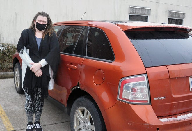 Amanda Frank and her boyfriend lived in their car for two months at the end of 2020 when she lost a portion of her income cleaning houses during the pandemic and he was unable to get a restaurant job.