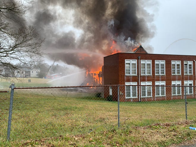 The old Kern Street School in Thomasville caught fire on Thursday, Dec. 31 for the second time in two months.