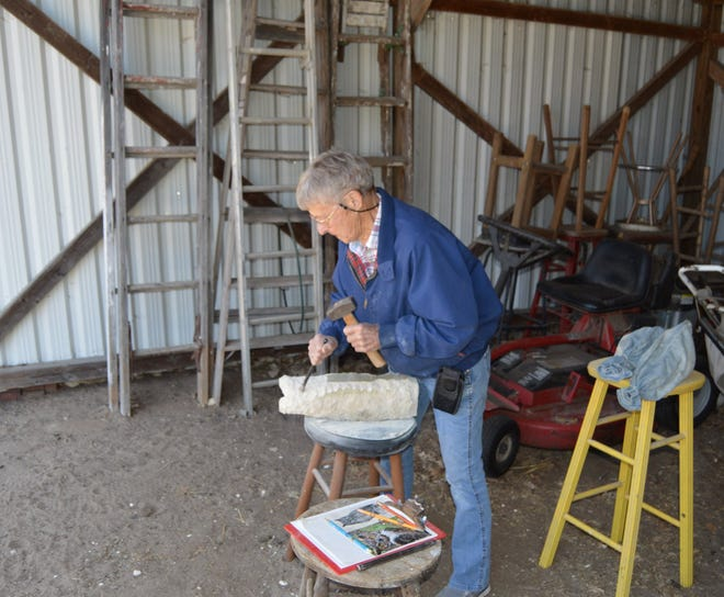 Retired art teacher Beth Vannatta of Halstead continues to sculpt on her farm, which she is donating to a nonprofit to create an art and nature education center.