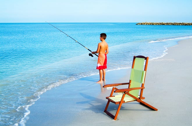 Beach fishing at Sanibel Island is a great way to explore the outdoors during winter.