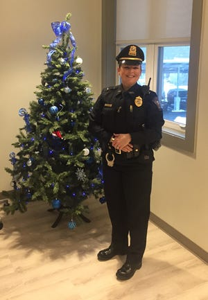Sutton Police Lt. Lisa Sullivan is the town's first female lieutenant and highest ranking female department member.