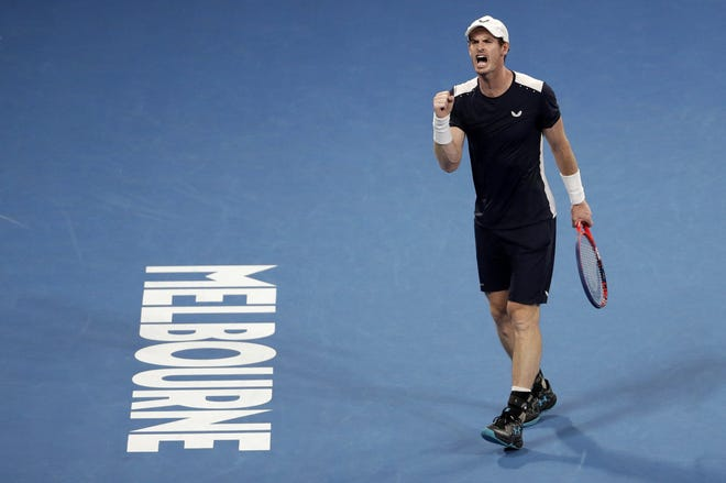 Andy Murray, shown winning a point against Spain's Roberto Bautista during the 2019 Australian Open, is out of the Delray Beach Open.