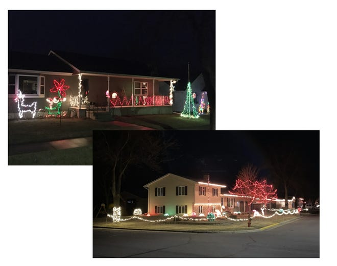 (Left)  Ken and Pat Hinderman home, 306 2nd Ave. NW and (Right) Leon and Kim Krzmarzick home, 836 3rd Ave. SE.