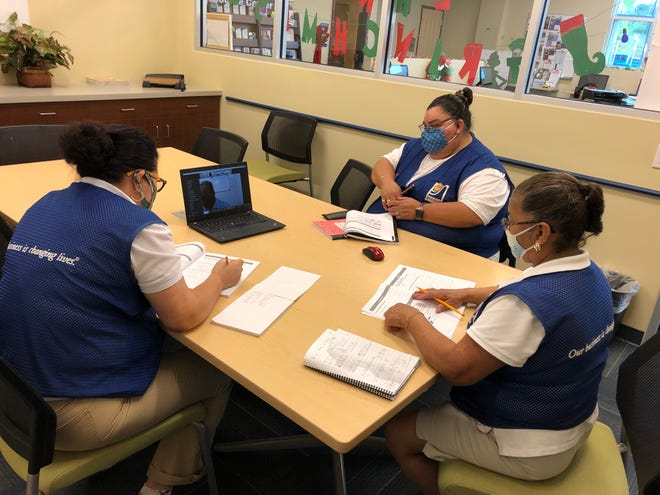 Team members at Goodwill's Corporate Campus in Bradenton are receiving ESOL instruction from Manatee Literacy Council instructor Dr. José Lara.