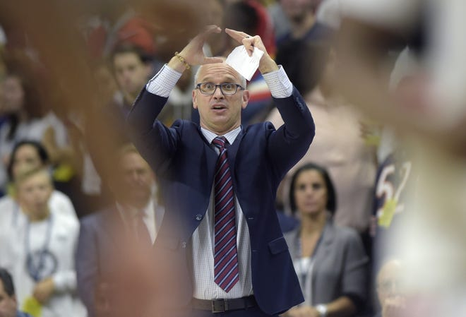 UConn men's basketball coach Dan Hurley has the Huskies off to a 4-1 start.