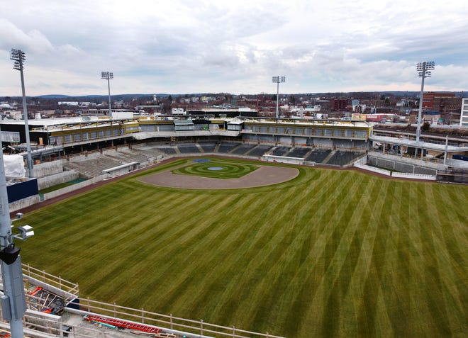 WORCESTER - Polar Park from center field on Thursday, December 31, 2020.