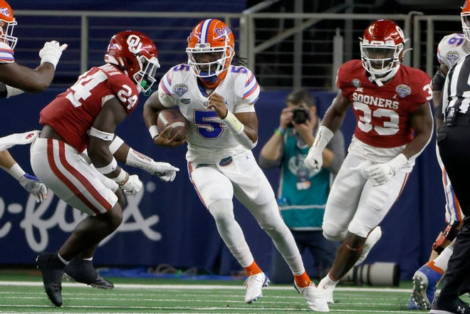 Quarterback Emory Jones and the Florida Gators open the 2021 season Sept. 4 against visiting Florida Atlantic.